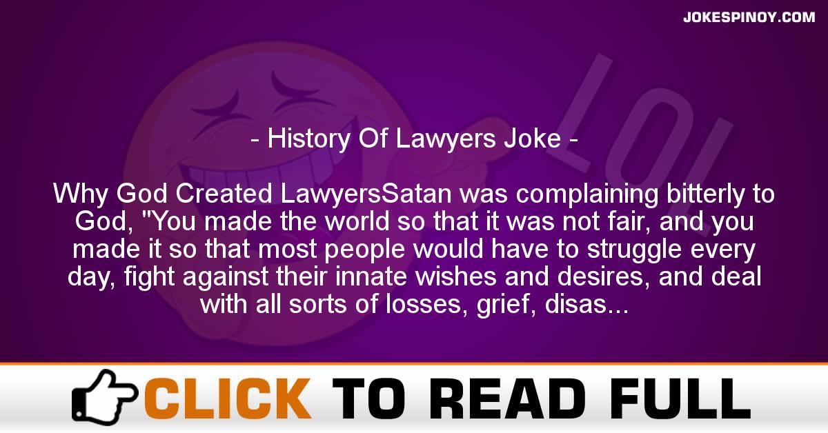 History Of Lawyers Joke