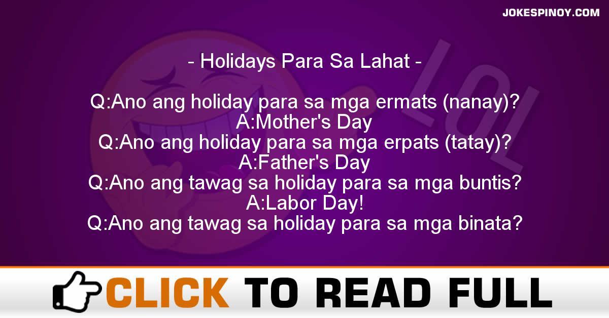 Holidays Para Sa Lahat