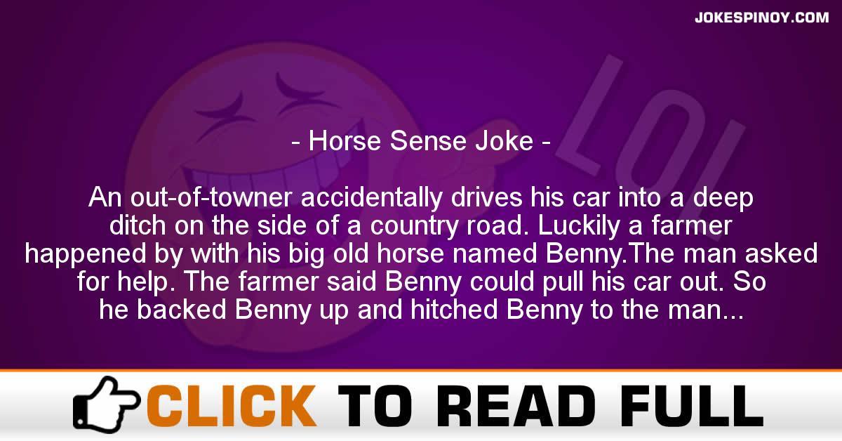 Horse Sense Joke