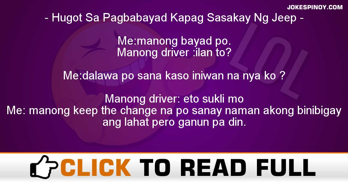 Hugot Sa Pagbabayad Kapag Sasakay Ng Jeep