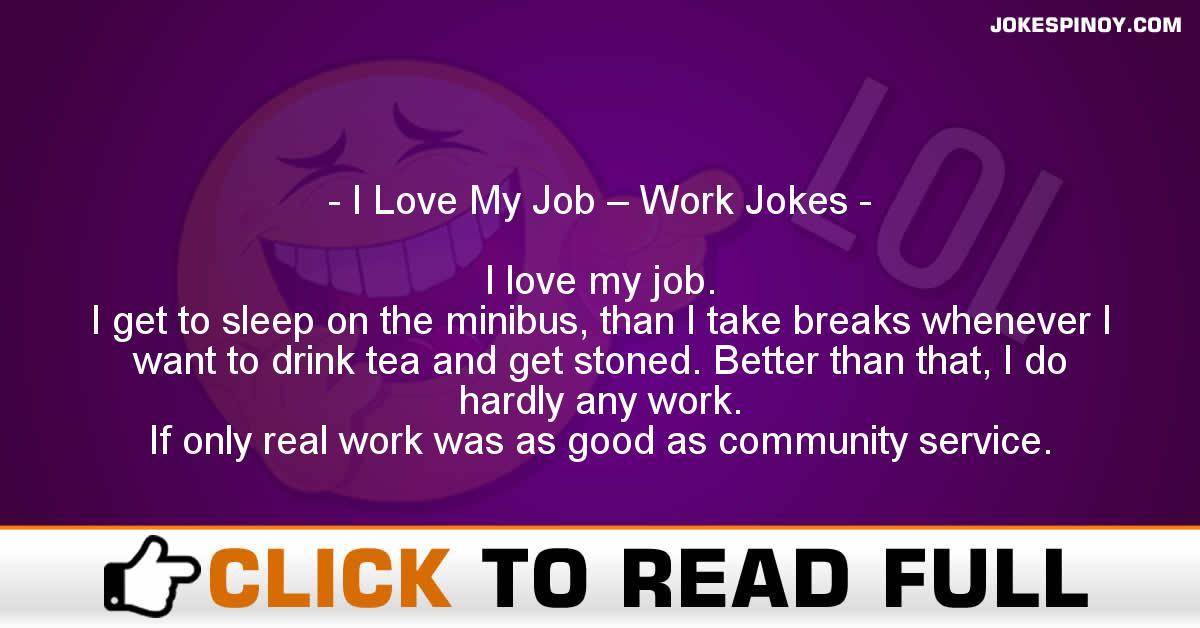 I Love My Job – Work Jokes