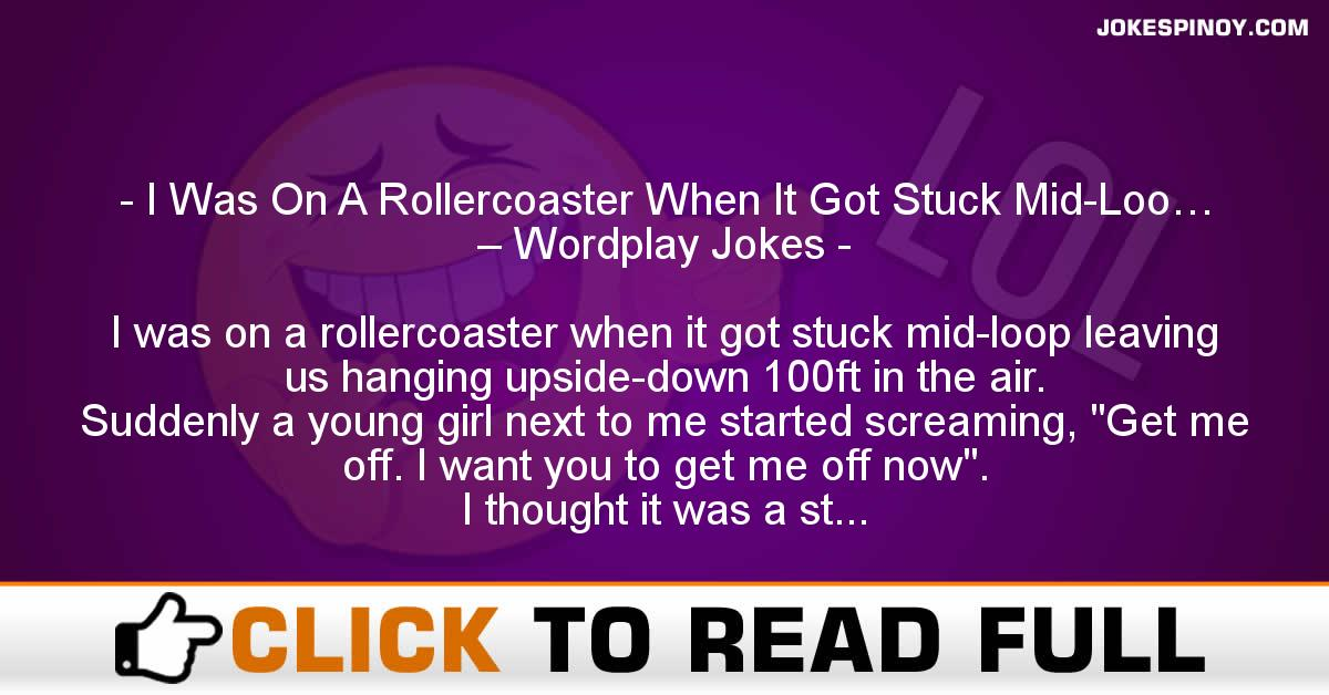I Was On A Rollercoaster When It Got Stuck Mid-Loo… – Wordplay Jokes