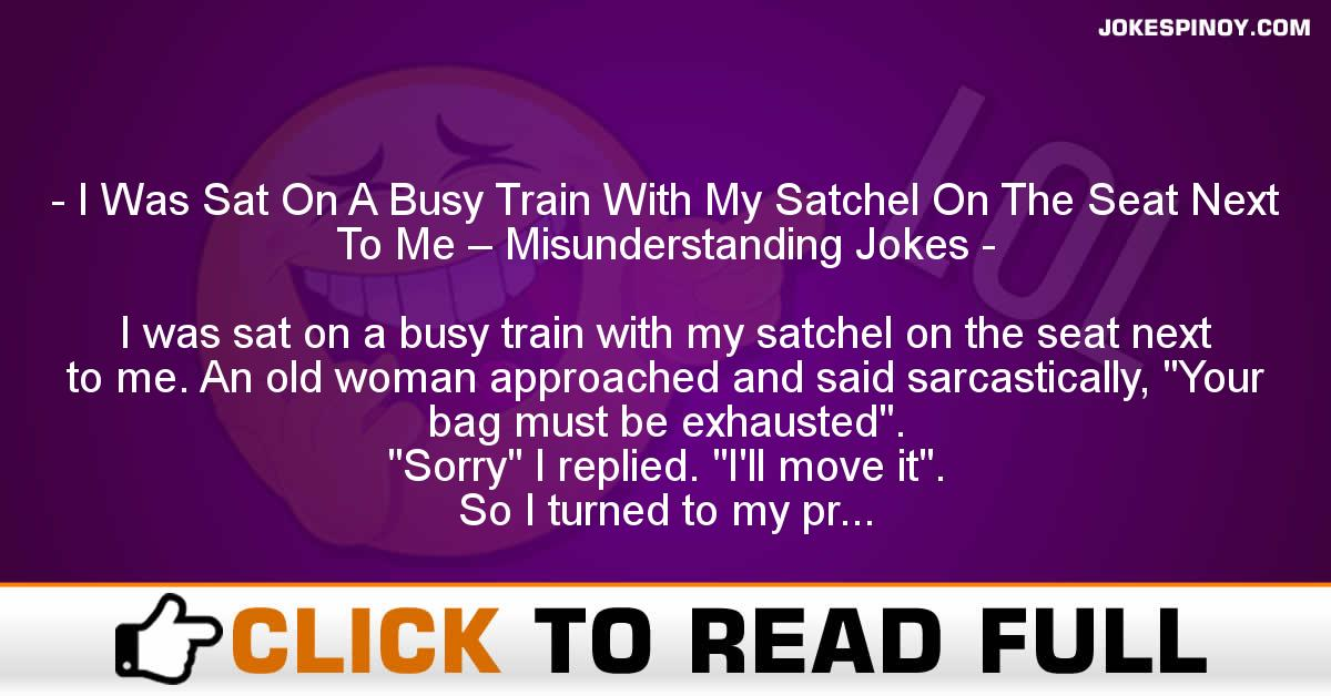 I Was Sat On A Busy Train With My Satchel On The Seat Next To Me – Misunderstanding Jokes