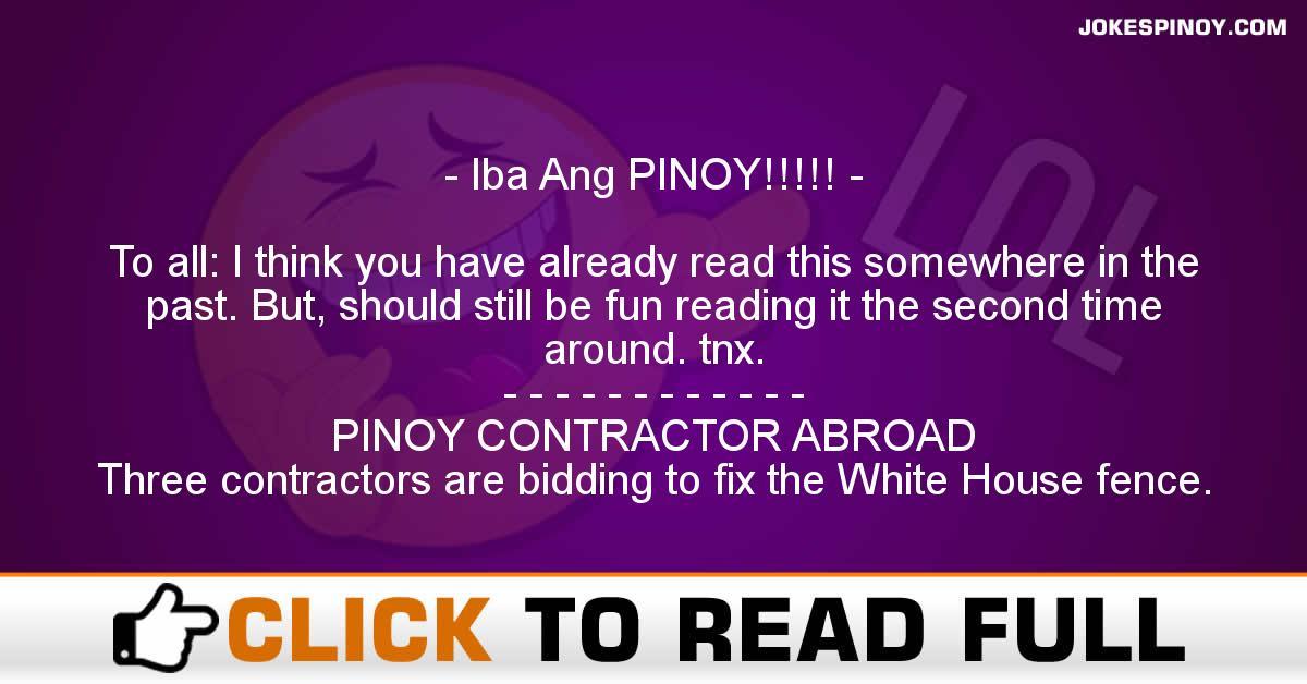 Iba Ang PINOY!!!!!