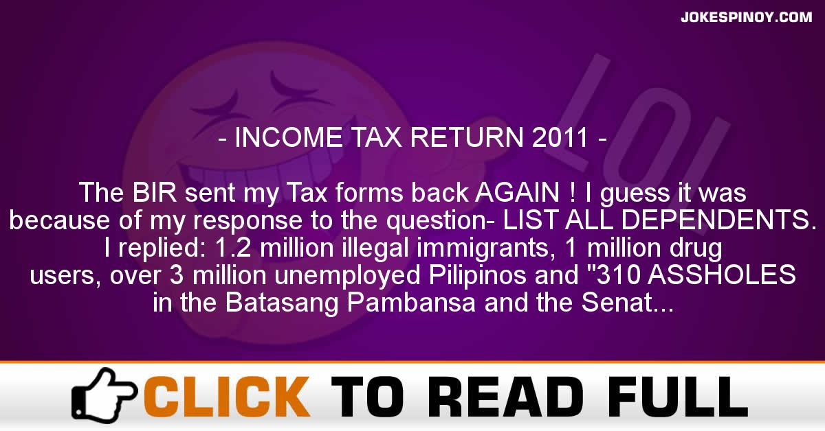 INCOME TAX RETURN 2011