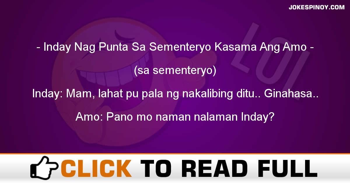 Inday Nag Punta Sa Sementeryo Kasama Ang Amo