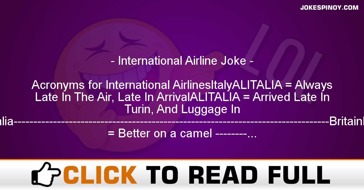 International Airline Joke