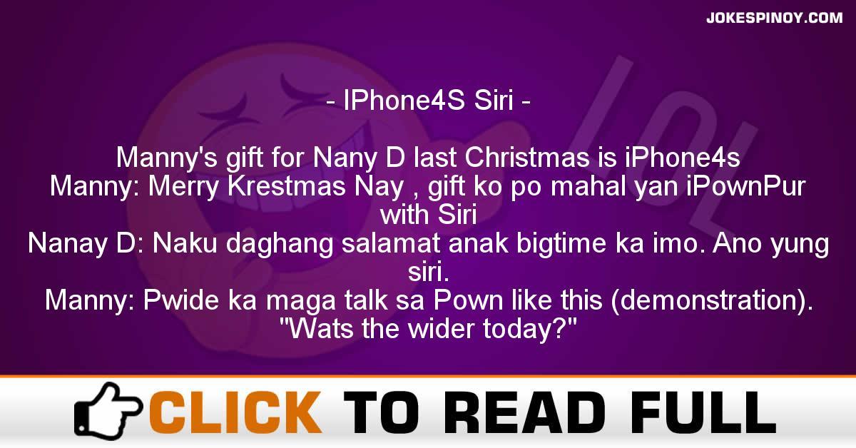 IPhone4S Siri