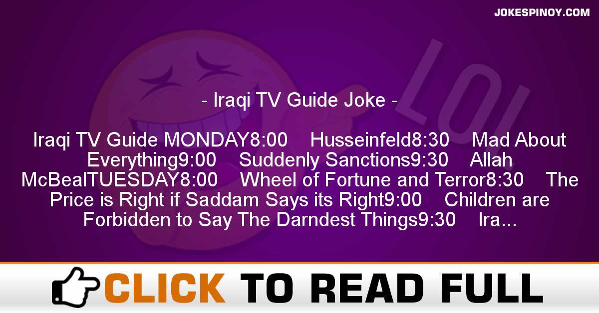 Iraqi TV Guide Joke