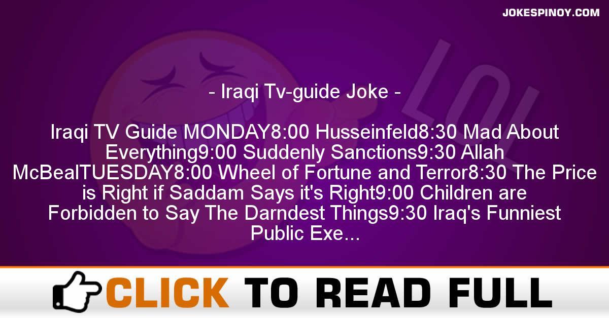 Iraqi Tv-guide Joke