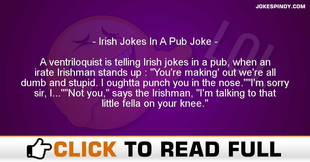Irish Jokes In A Pub Joke