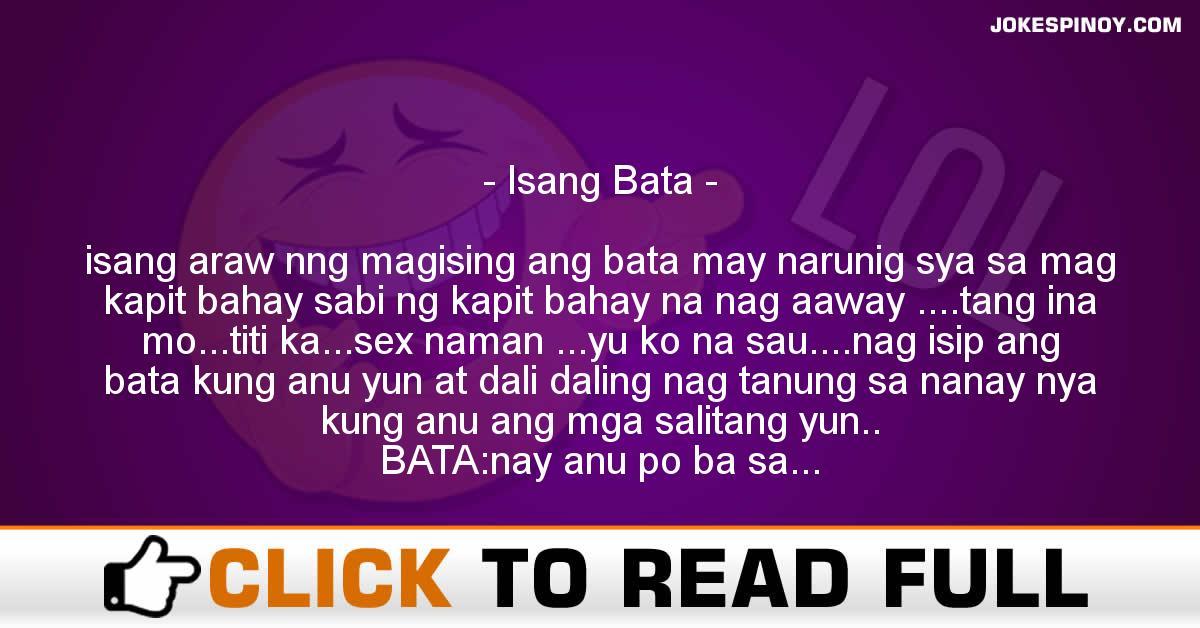 Isang bata - JokesPinoy com