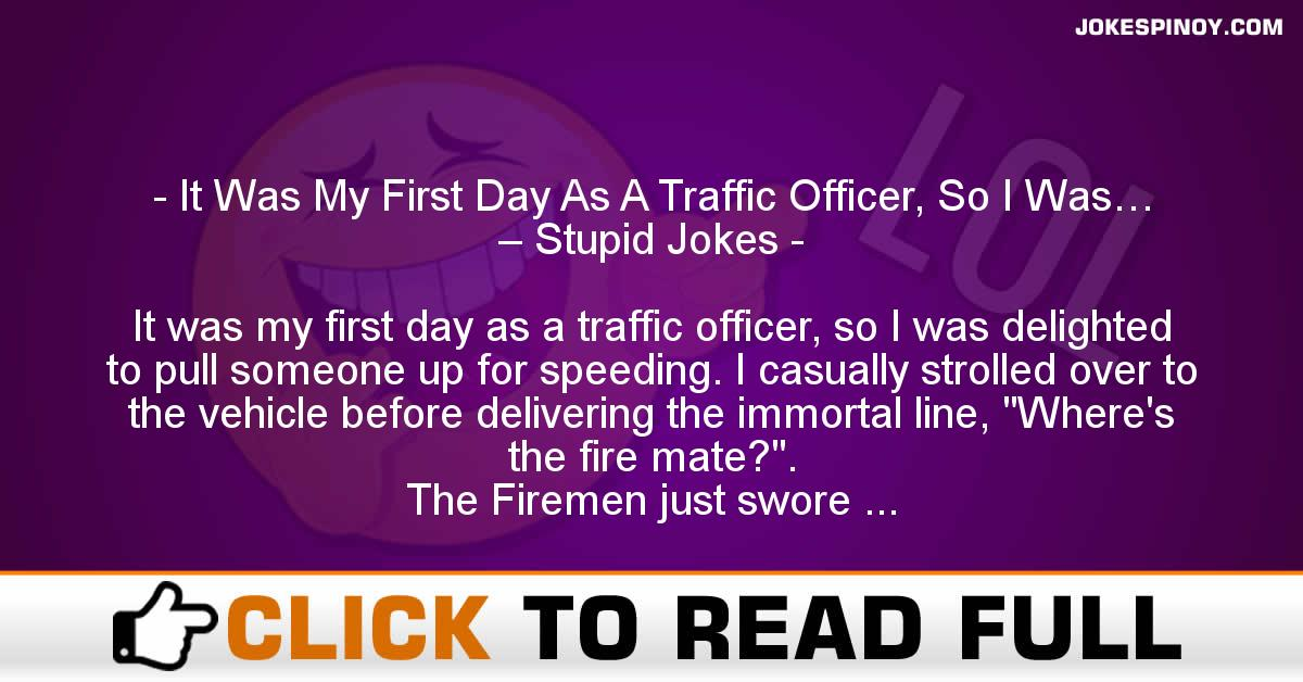It Was My First Day As A Traffic Officer, So I Was… – Stupid Jokes