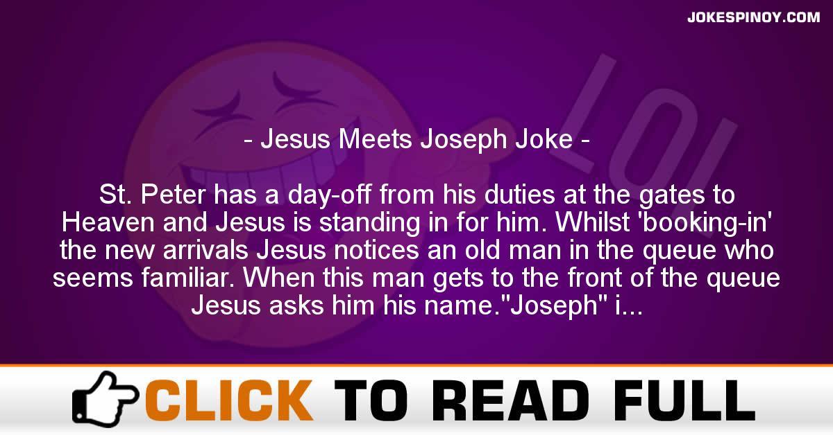 Jesus Meets Joseph Joke