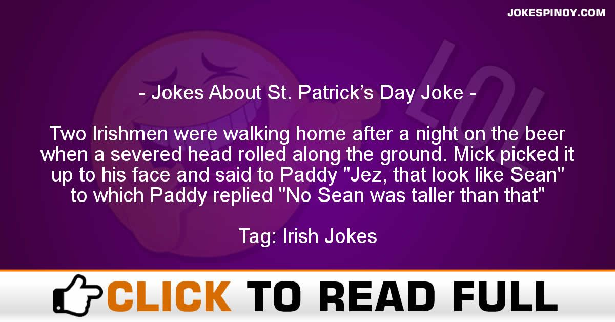 Jokes About St. Patrick's Day Joke