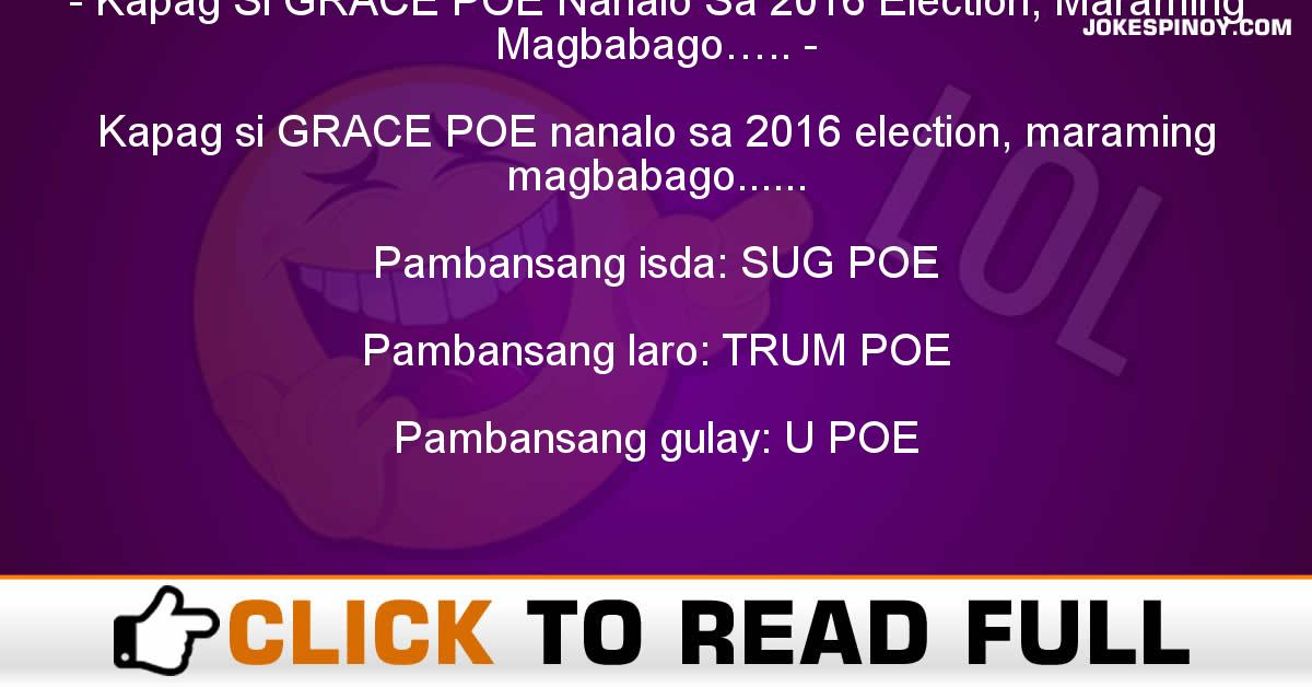 Kapag Si GRACE POE Nanalo Sa 2016 Election, Maraming Magbabago…..