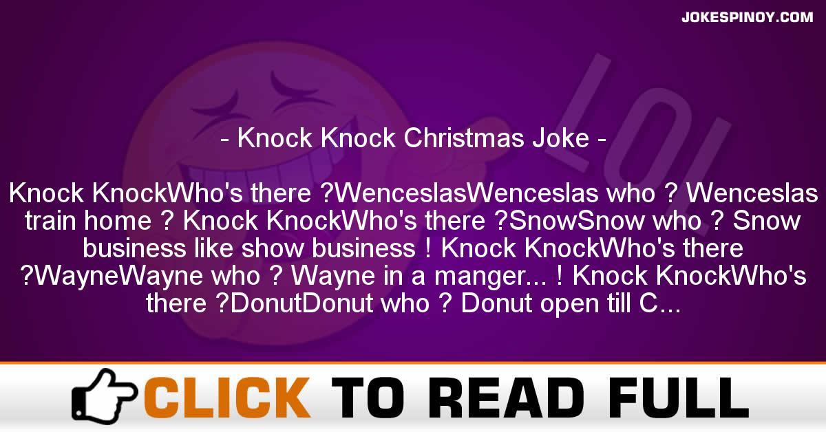 Knock Knock Christmas Joke