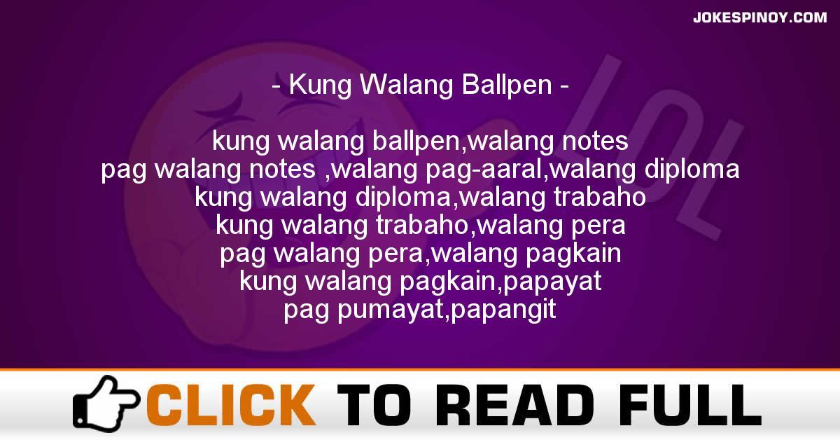 Kung Walang Ballpen