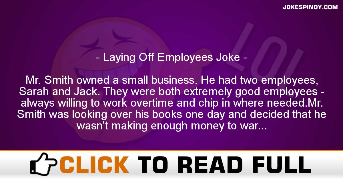 Laying Off Employees Joke