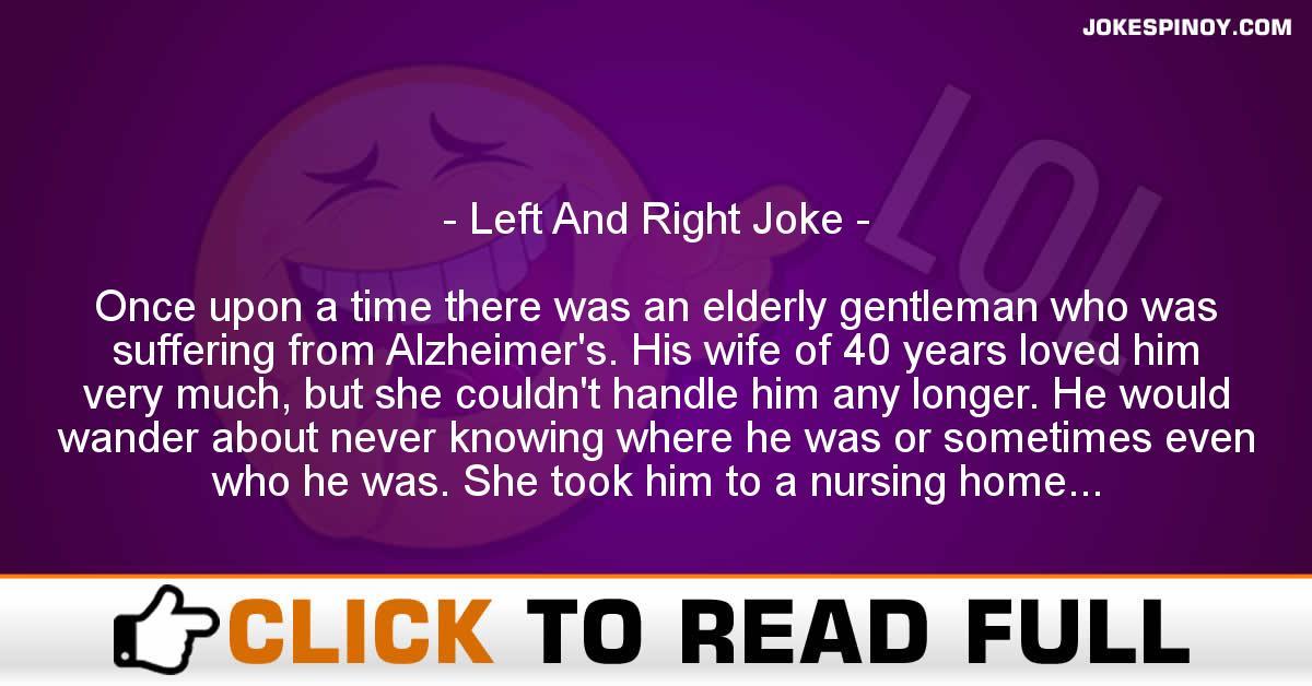 Left And Right Joke