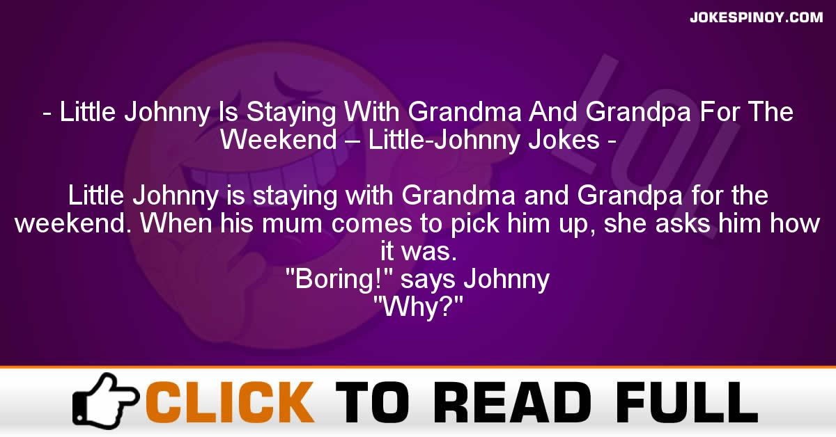 Little Johnny Is Staying With Grandma And Grandpa For The Weekend – Little-Johnny Jokes