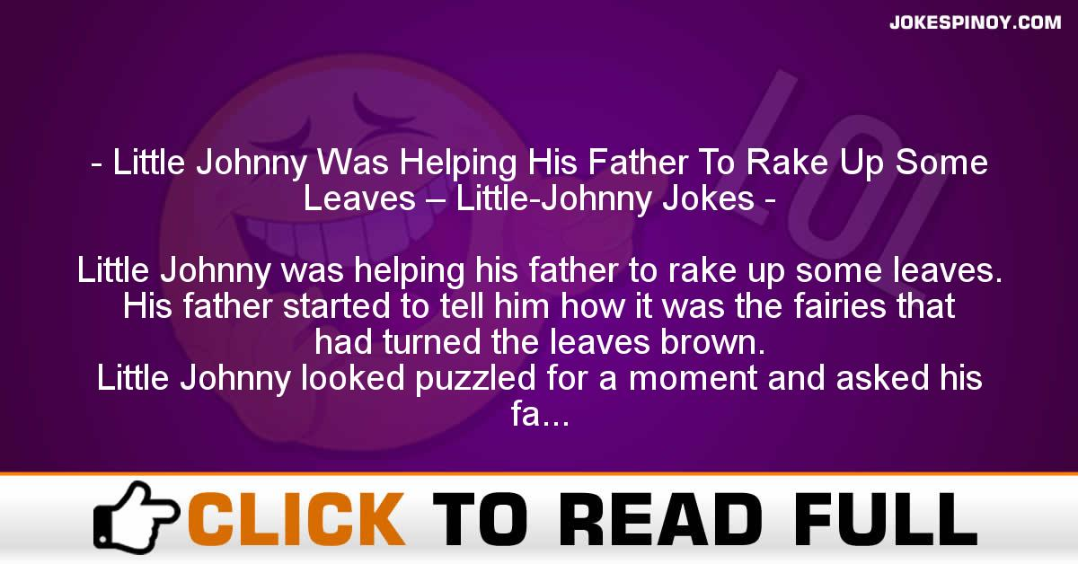 Little Johnny Was Helping His Father To Rake Up Some Leaves – Little-Johnny Jokes