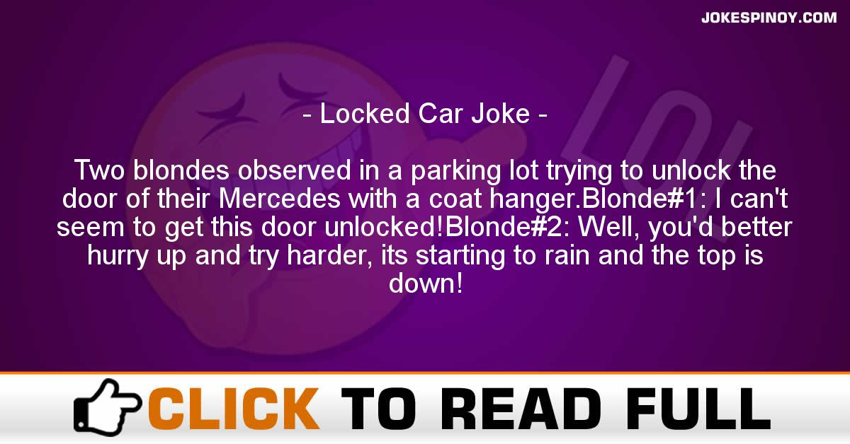 Locked Car Joke