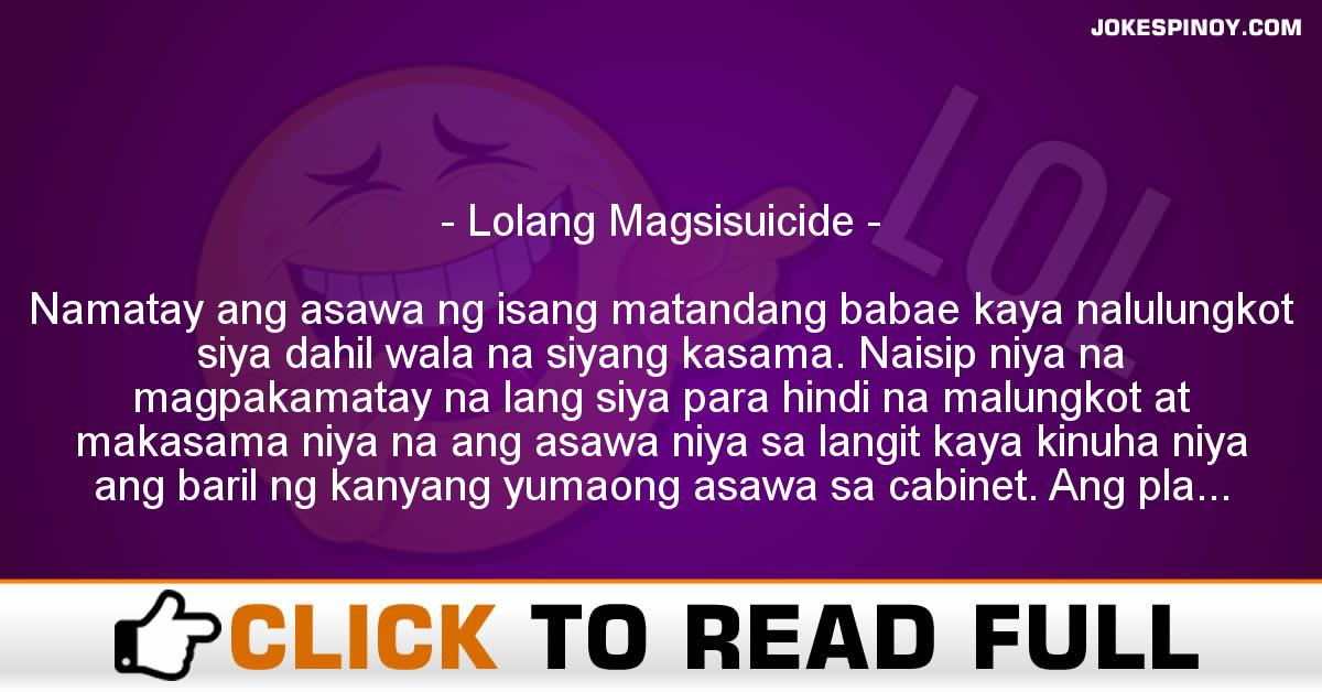 Lolang Magsisuicide