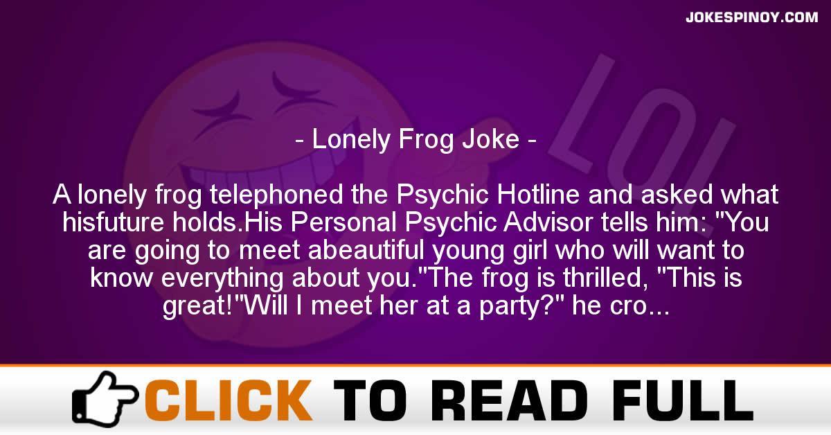 Lonely Frog Joke