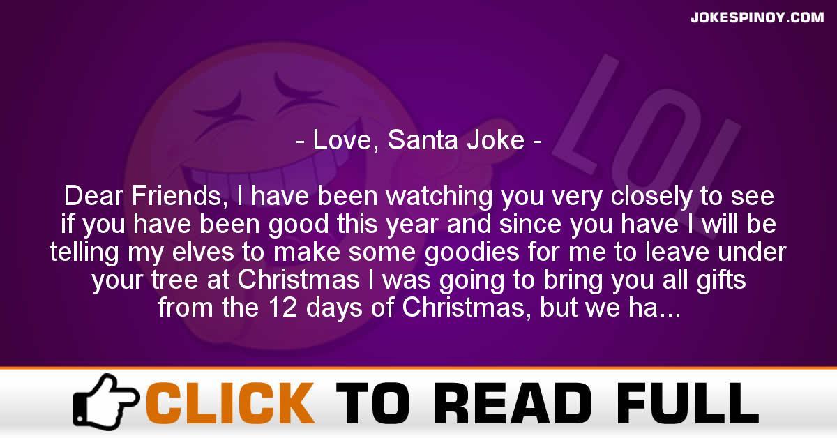 Love, Santa Joke