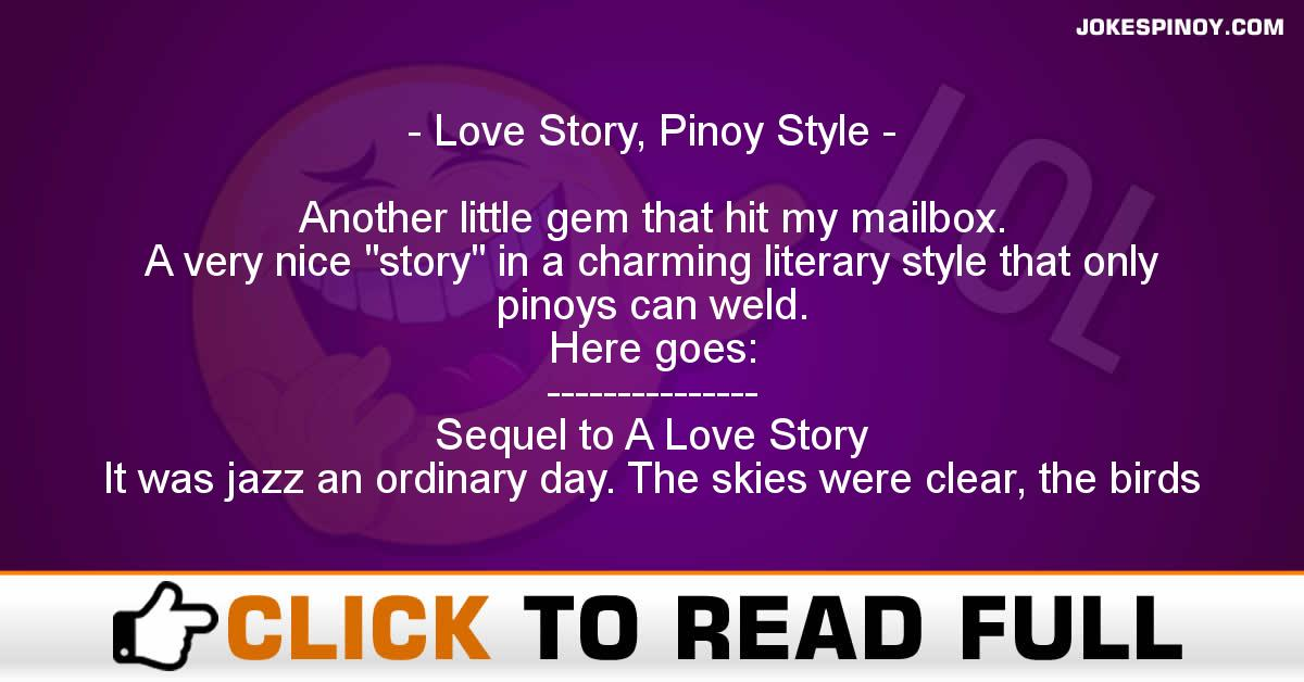 Love Story, Pinoy Style