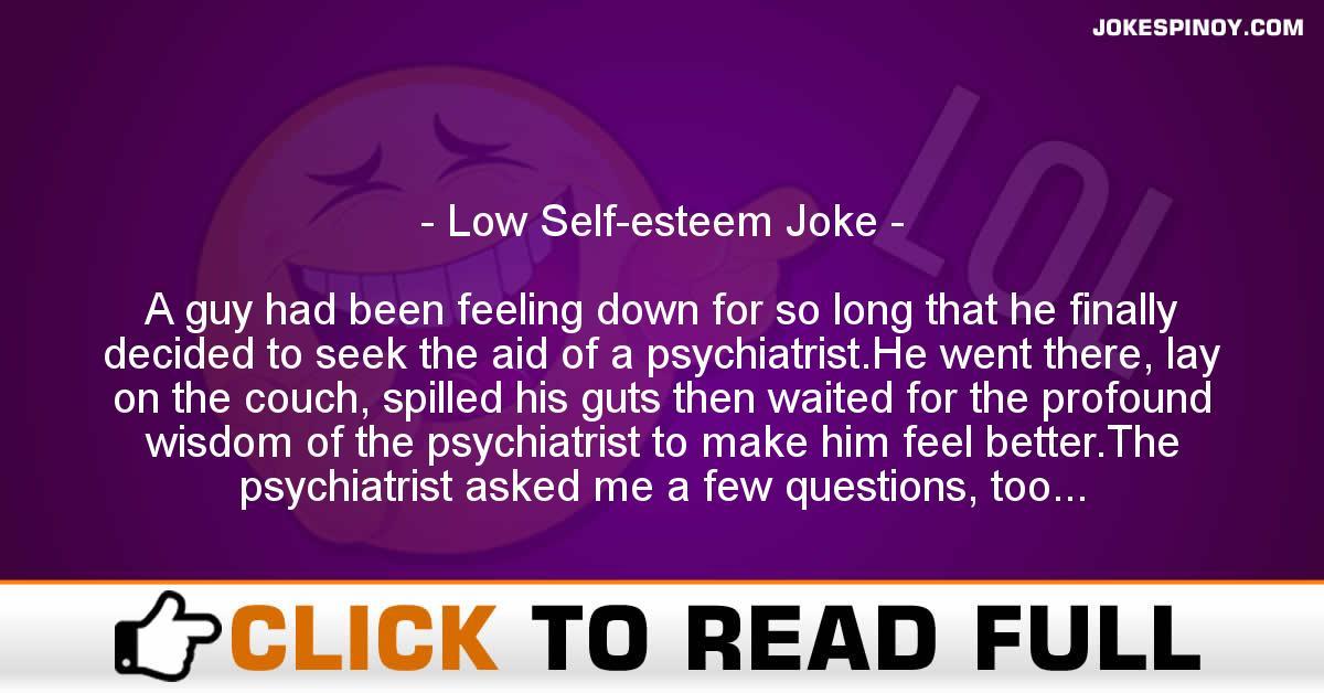 Low Self-esteem Joke