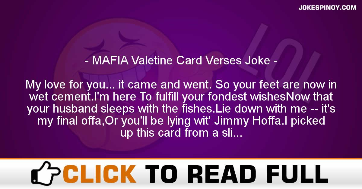 MAFIA Valetine Card Verses Joke