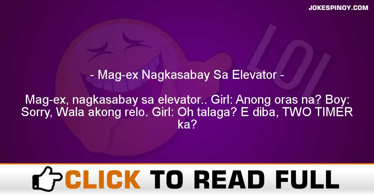 Mag-ex Nagkasabay Sa Elevator