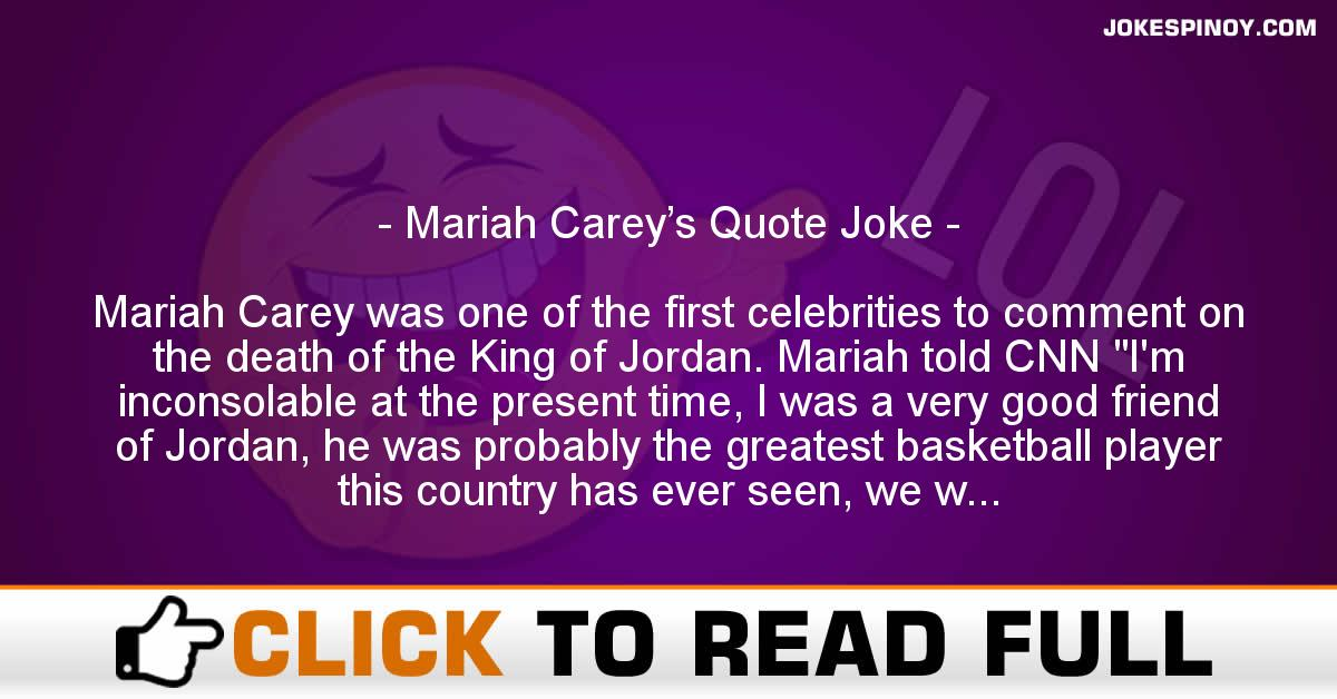 Mariah Carey's Quote Joke