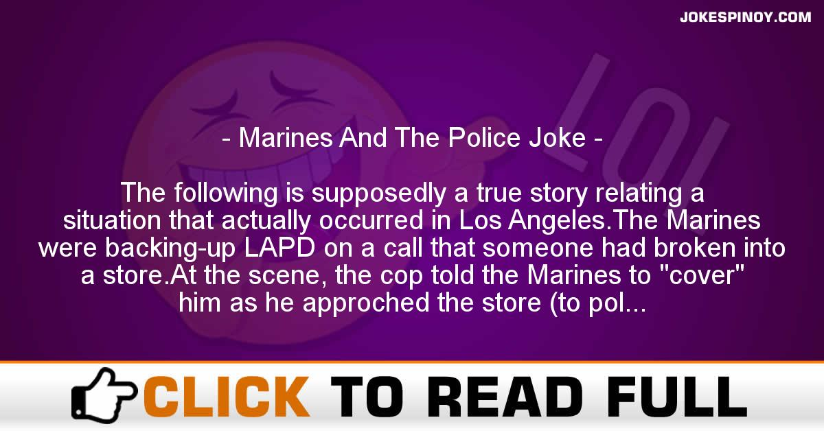 Marines And The Police Joke