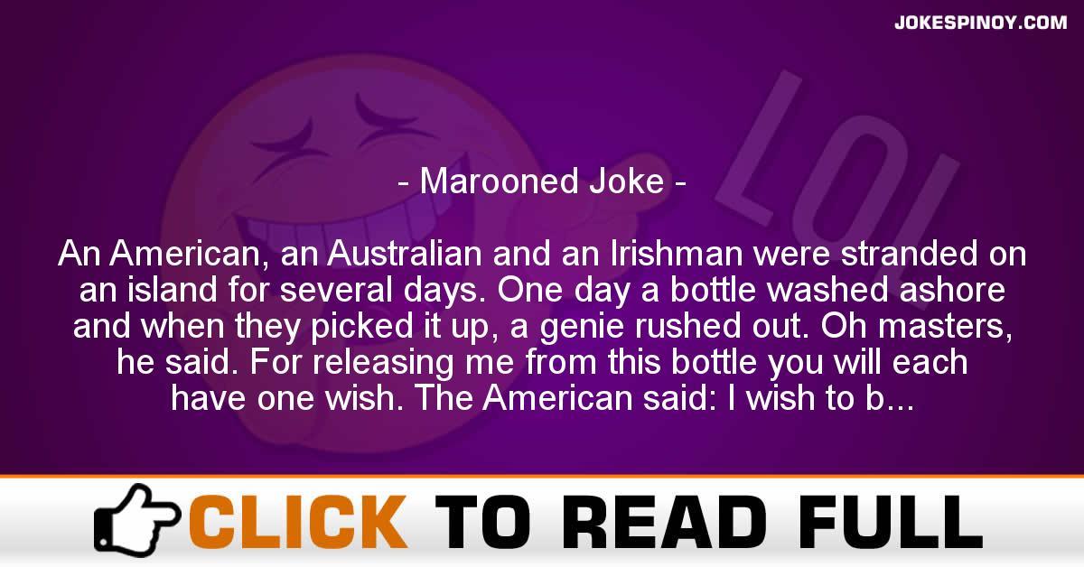 Marooned Joke