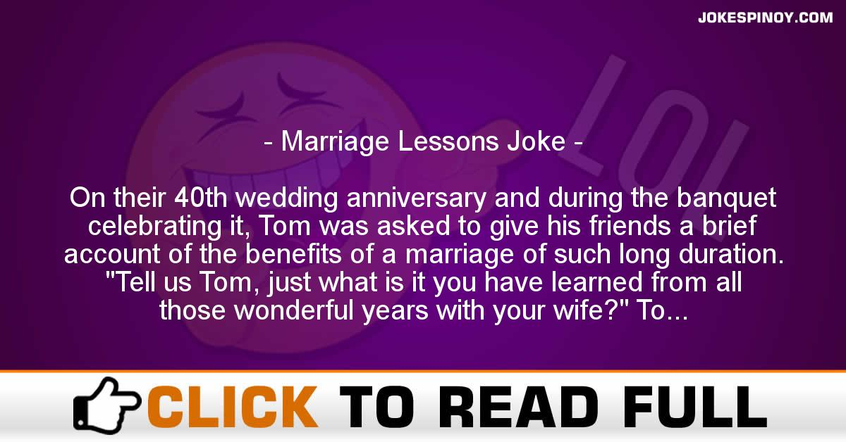 Marriage Lessons Joke