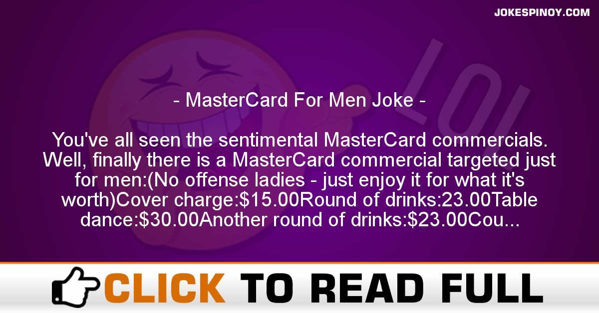 MasterCard For Men Joke