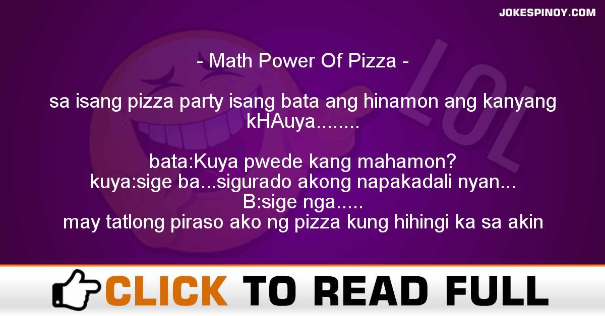 Math Power Of Pizza