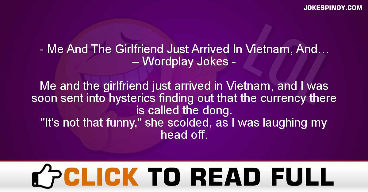 Me And The Girlfriend Just Arrived In Vietnam, And… – Wordplay Jokes