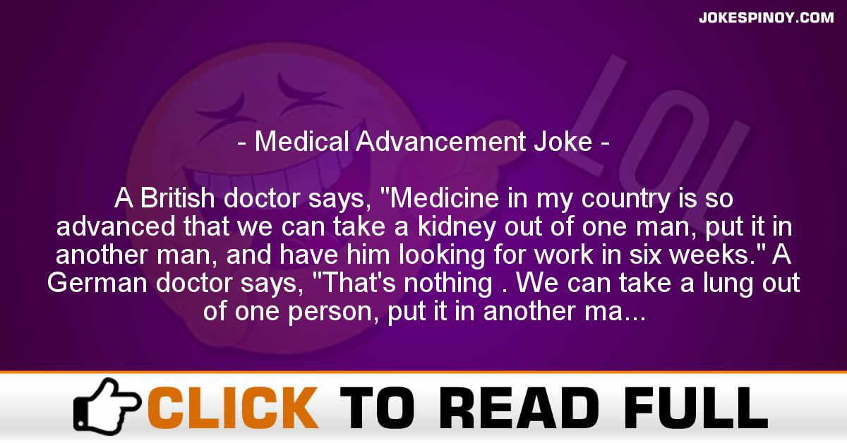 Medical Advancement Joke
