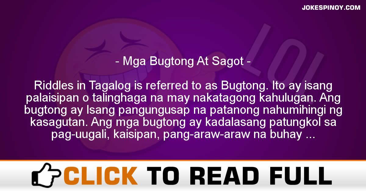 Mga Bugtong At Sagot