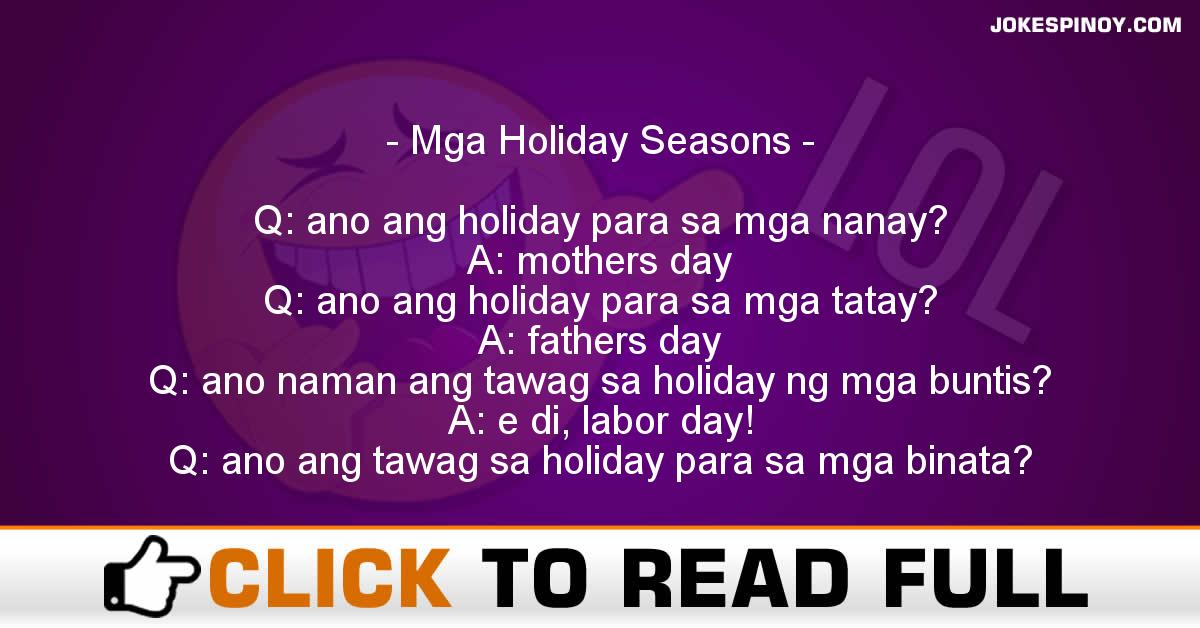Mga Holiday Seasons