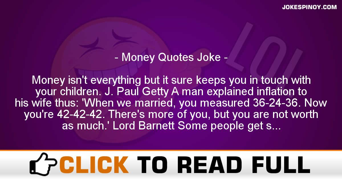 Money Quotes Joke