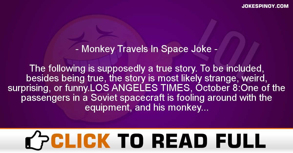 Monkey Travels In Space Joke