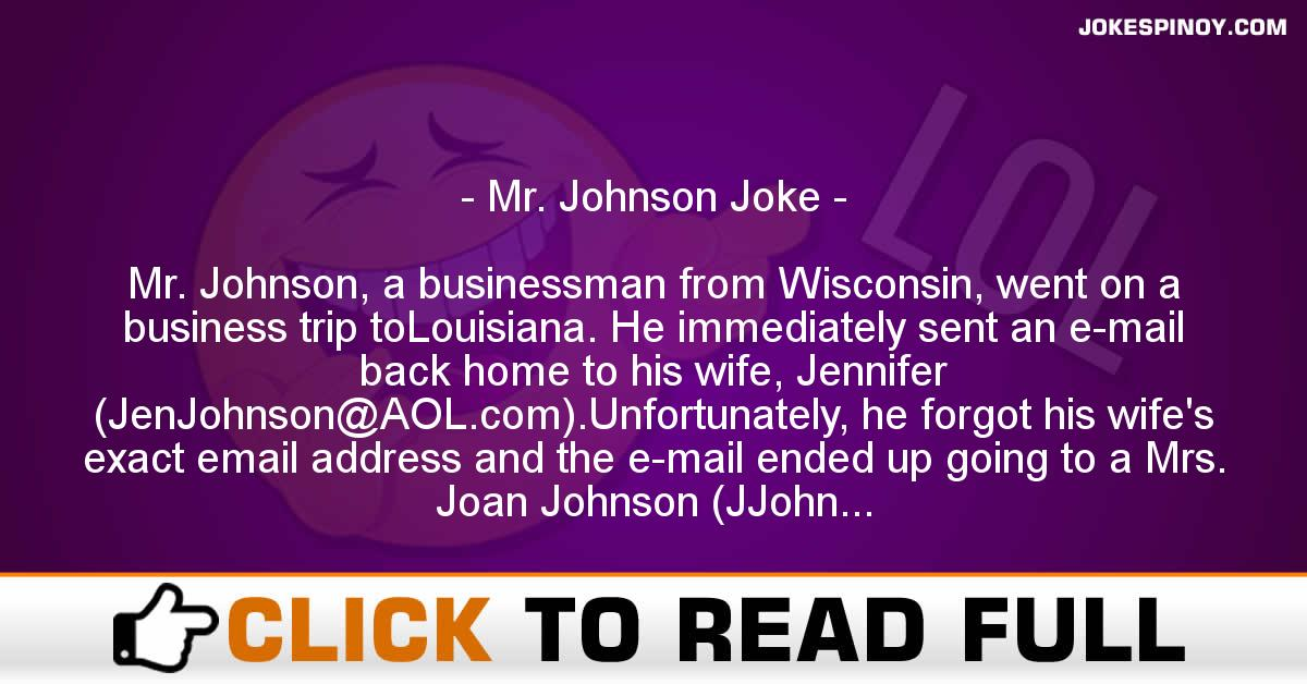 Mr. Johnson Joke