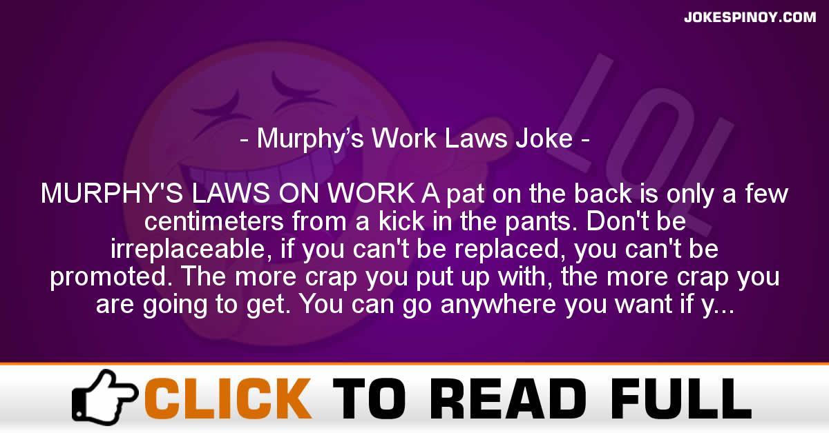 Murphy's Work Laws Joke