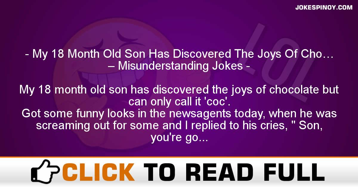 My 18 Month Old Son Has Discovered The Joys Of Cho… – Misunderstanding Jokes