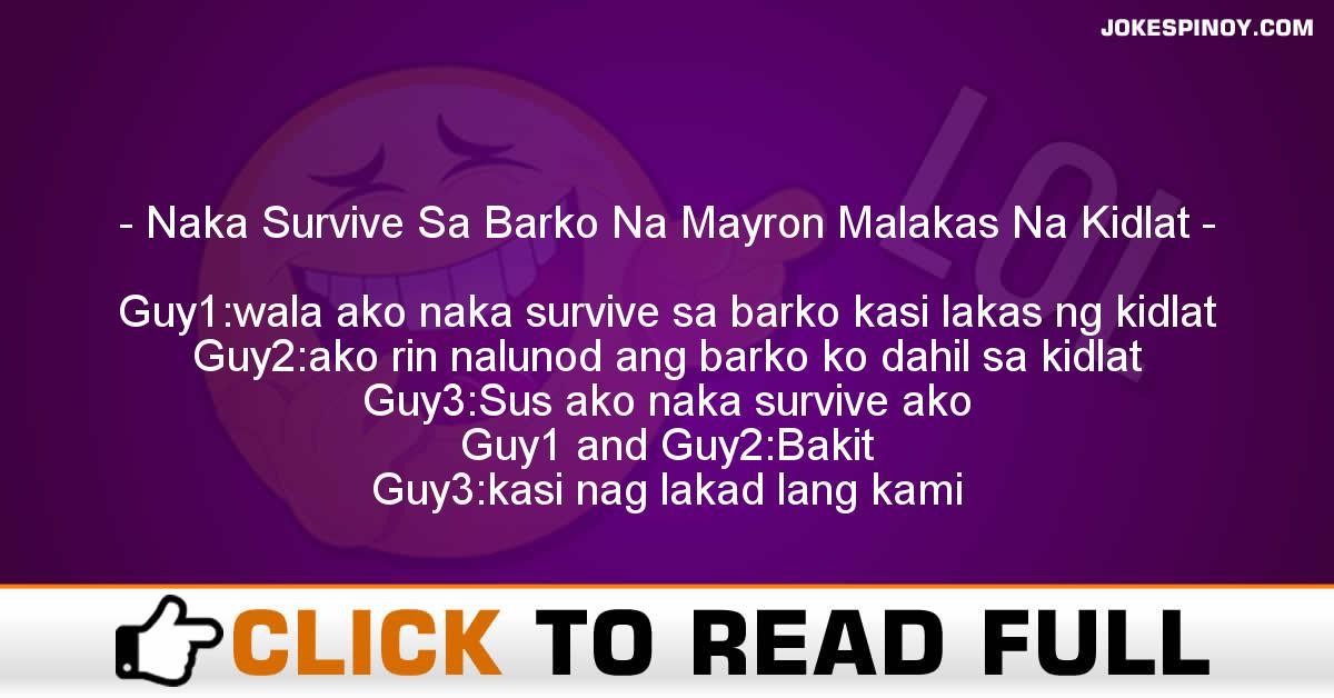 Naka Survive Sa Barko Na Mayron Malakas Na Kidlat